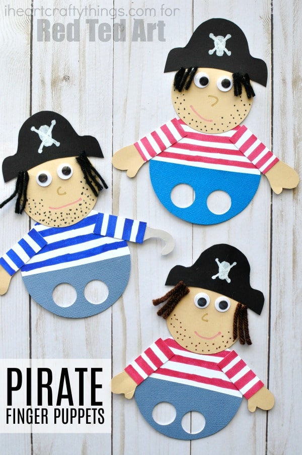 rrrr Mateys!! Are you ready for some pirate fun? These pirate finger puppets are simple to create and provide hours of fun pretend play at home, at school or even at summer camp.