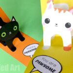 3D Cat Card DIY