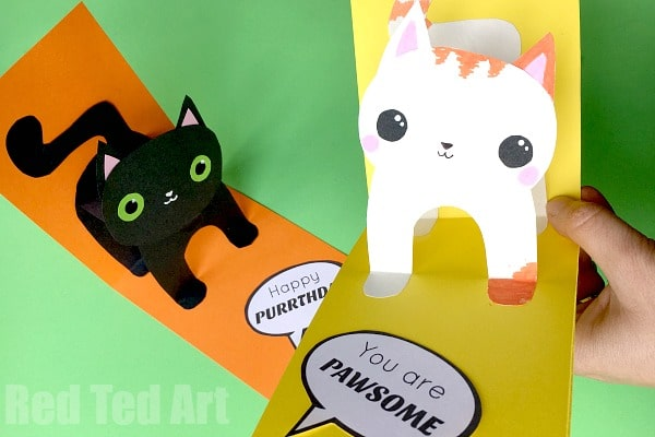 3d cat card diy red ted arts blog 3d cat card diy you are purrrfect happy purrthday you are pawsome m4hsunfo