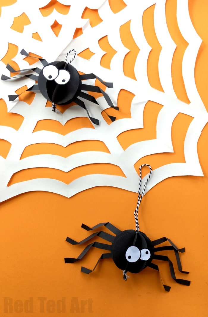 Paper Spider Craft How To Make A Out Of Oh Yes