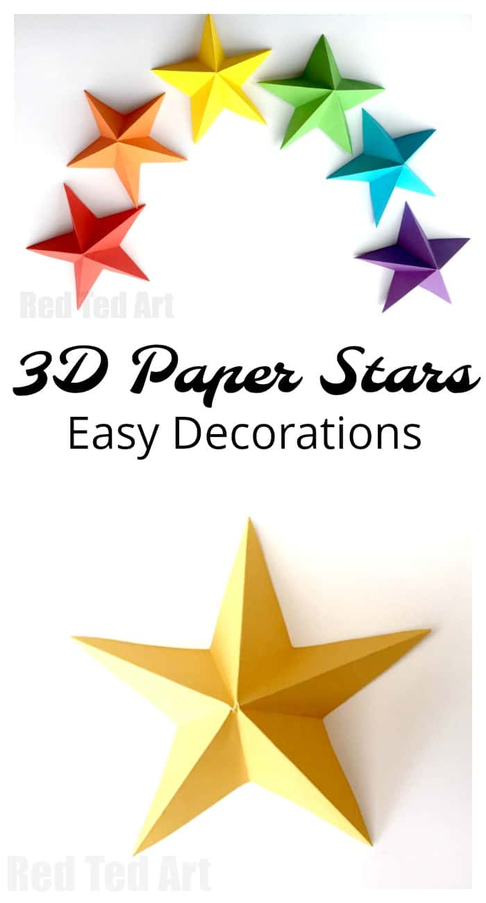 3d Paper Star Kirigami Red Ted Arts Blog