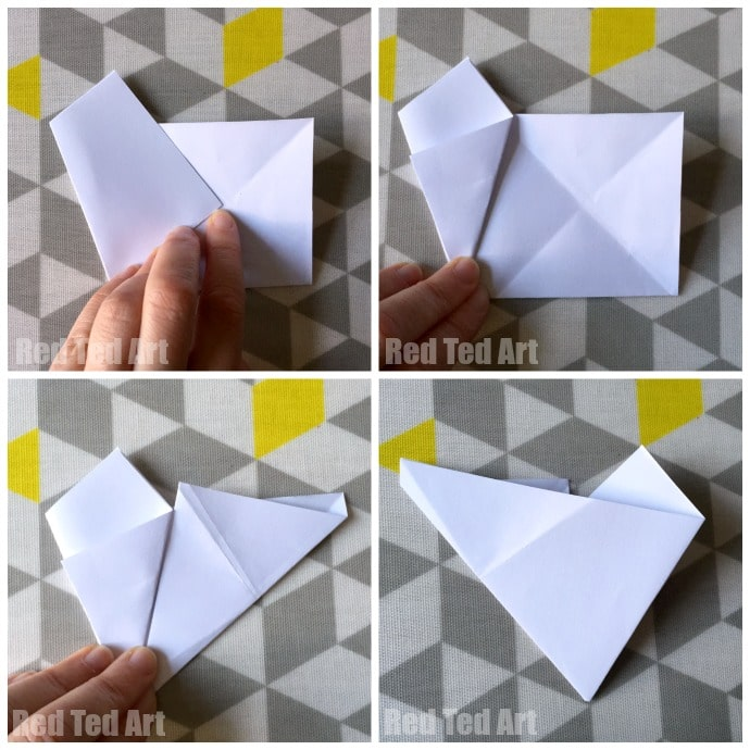 Easy 3D Paper Stars - quick and easy paper star how to. Learn how to make a paper star in minutes. They are fabulous Paper Christmas Decorations or would look great for 4th July Decorations, New Year's Eve or simply as Party Decor! Love Paper Crafts. Adore these 3D Paper Stars!!