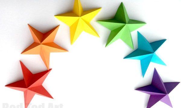 3D Paper Star Kirigami