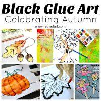 Black Glue Art Projects