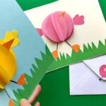 Pop Up Chick Card for Easter
