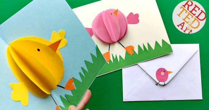Pop Up Easter Chick Cards