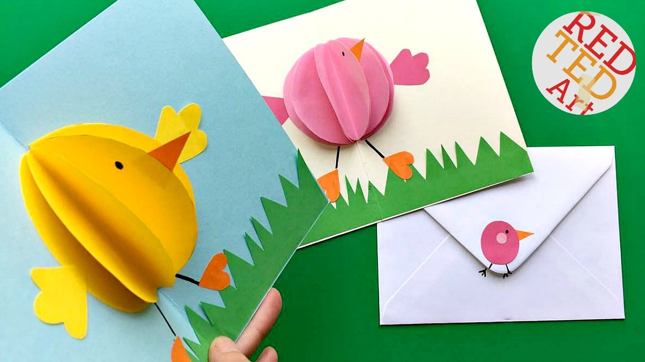 Easter Cards To Make Ideas Part - 28: Red Ted Art