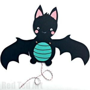 Paper Bat Puppet