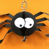 Paper Spider Craft – How to make a 3d Spider out of Paper