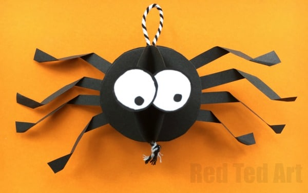Paper Spider Craft How To Make A 3d Spider Out Of Paper Red Ted Art