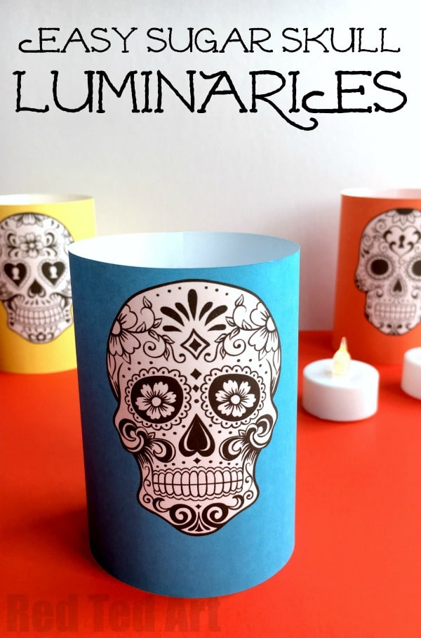 Paper Day of the Dead Luminaries - Red Ted Art's Blog