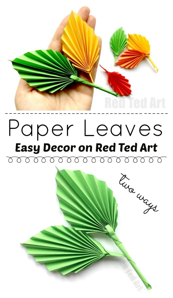 Easy Paper Leaf. This adorable paper leaf DIY is based on an origami leaf pattern, but is EASIER to make. They look fabulous and these paper leaves make great Thanksgiving Decor or Autumn Decor. So simple. So pretty and above all SO EASY!! Love!