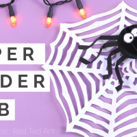 Easy Paper Spider Web Craft for kids