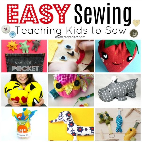Easy Sewing Projects - 17+ Sewing Project for Kids - lovely kids projects that will help teaching kids to sew! #sewing #sewingprojects #forkids #teachkidstosew