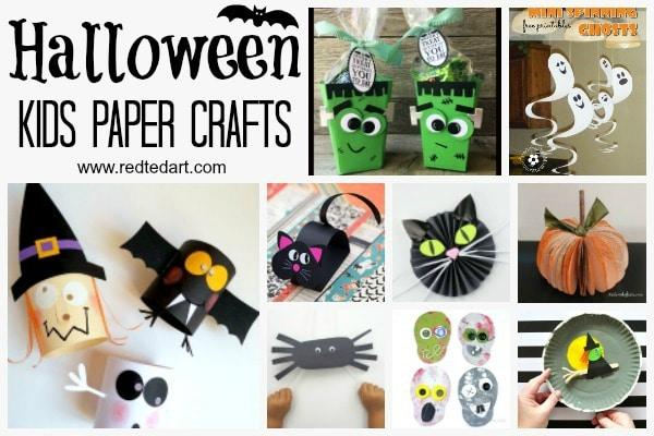Paper Halloween Crafts - Red Ted Art's Blog