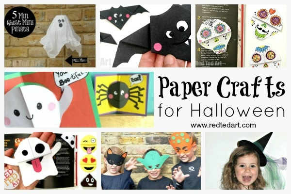 Paper Halloween Crafts - who knew Paper Crafts for Kids could be so much fun?! Paper is incredibly versatile, cheap and above all FUN! Here are some of our favourite Paper Halloween Craft Ideas for Kids. Take peak today, as well as bookmark for later. LOVE.