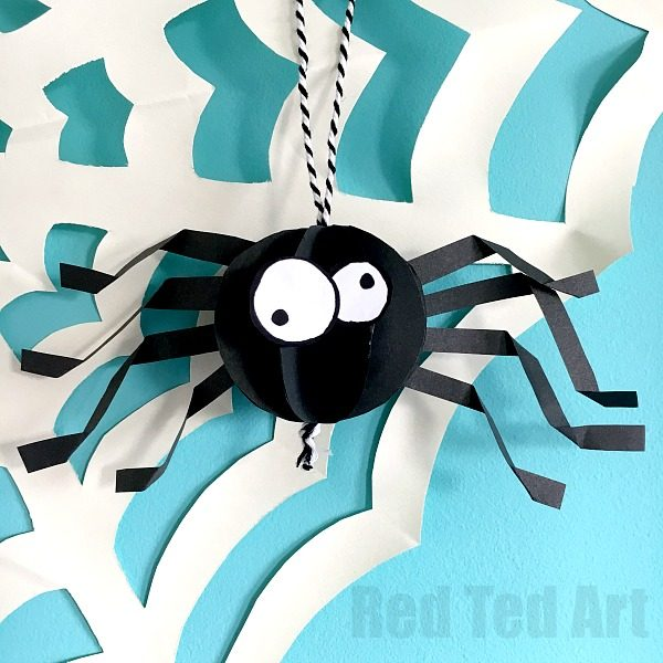 3d Paper Spider Decoration