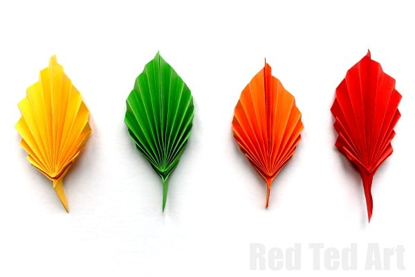 Origami Leaf Stem Video | 400x600