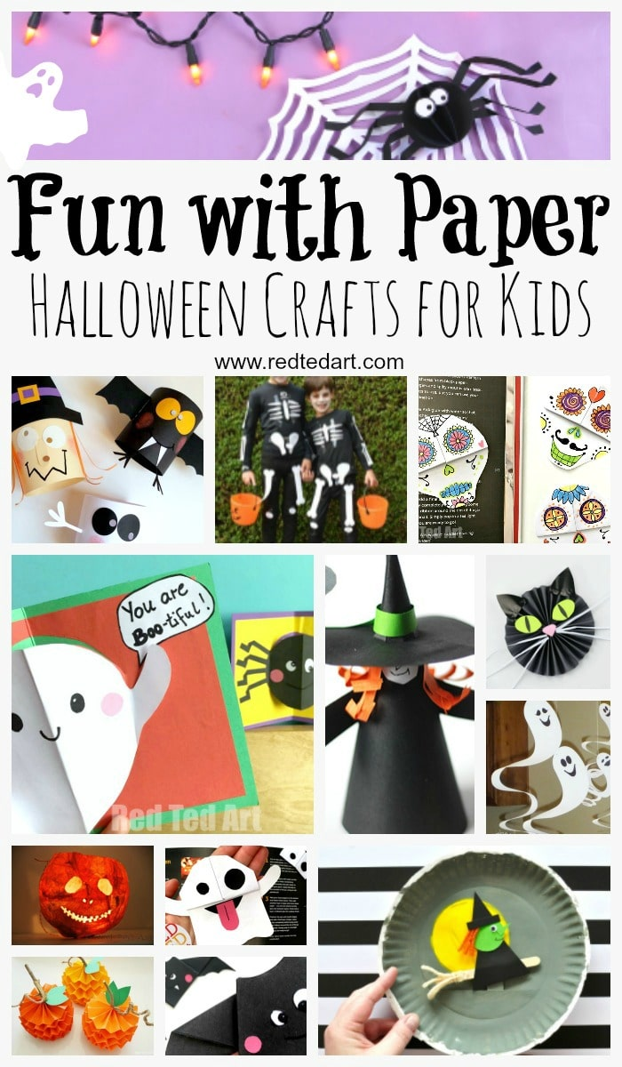 Paper Halloween Crafts Red Ted Art Make crafting with