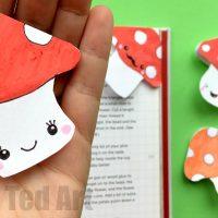 Mushroom Corner Bookmark Design