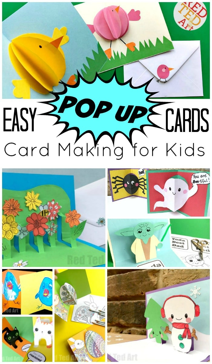 Easy Pop Up Card How To Projects Red Ted Art