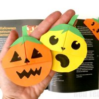 Pumpkin Corner Bookmark (Easy Jack O'Lantern Bookmark)