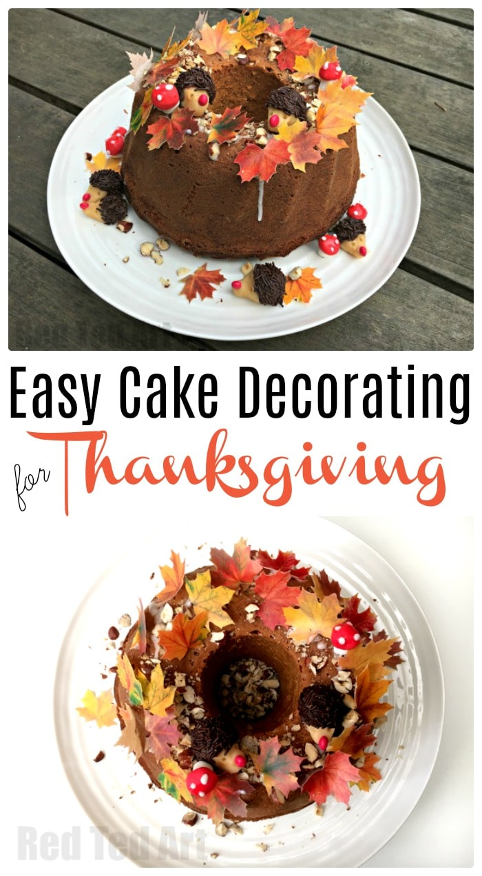 Thanksgiving Cake Decorating Ideas Red Ted Arts Blog - Homemade cake decorating ideas