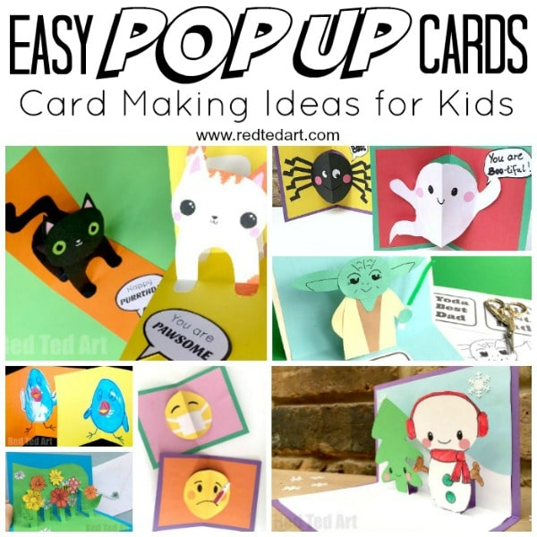 3d Card Making Ideas Part - 48: Easy Pop Up Card How To Projects. Do You (or Your Kids! Teehee
