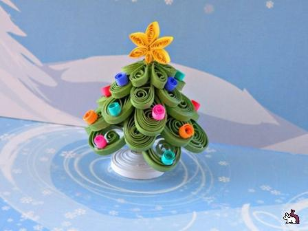 Paper Quilled Christmas Trees Red Ted Art