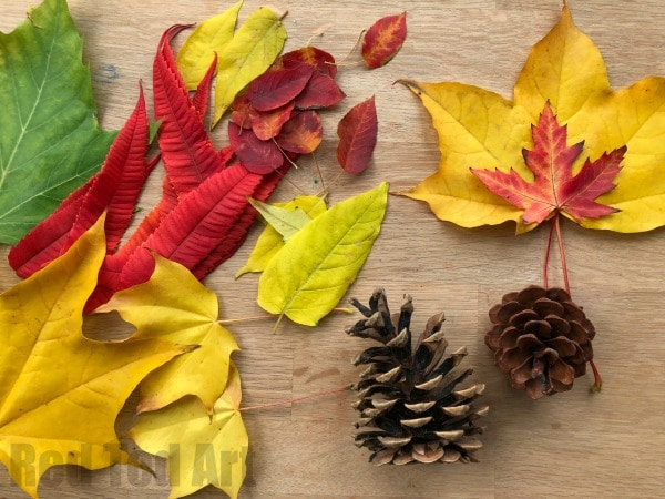 thanksgiving nature crafts leaves