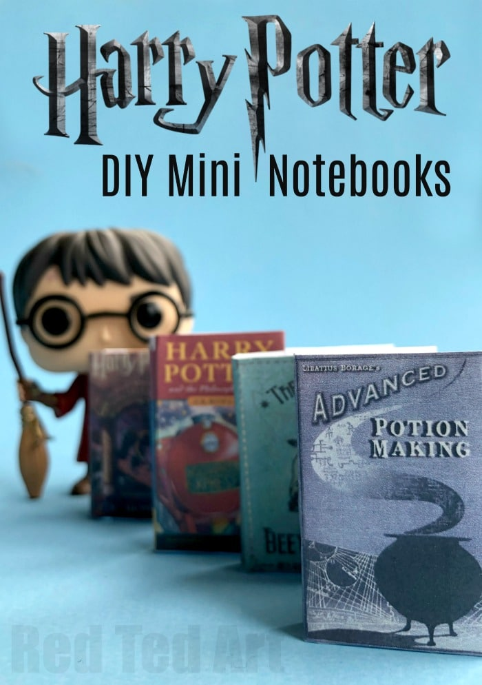 photograph about Harry Potter Spell Book Printable identify Do-it-yourself Harry Potter Mini Publications (No Glue) - Purple Ted Artwork