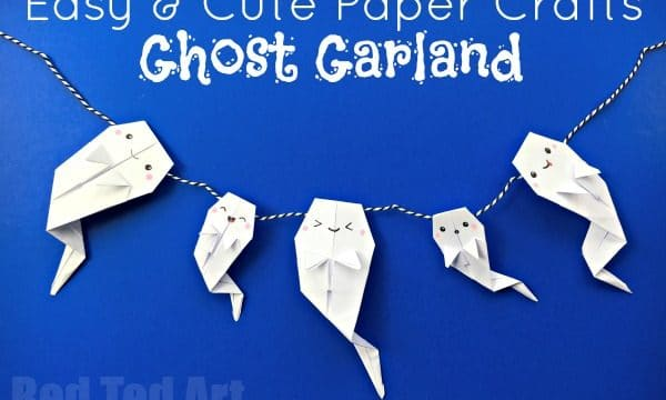 Easy Origami Ghost Garland