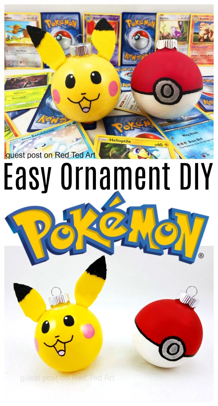 Pikachu Christmas Ornament.Easy Pokemon Ornaments Diy Red Ted Art