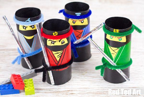 The Lego Ninjago Movie Craft Tp Roll Ninjas Red Ted