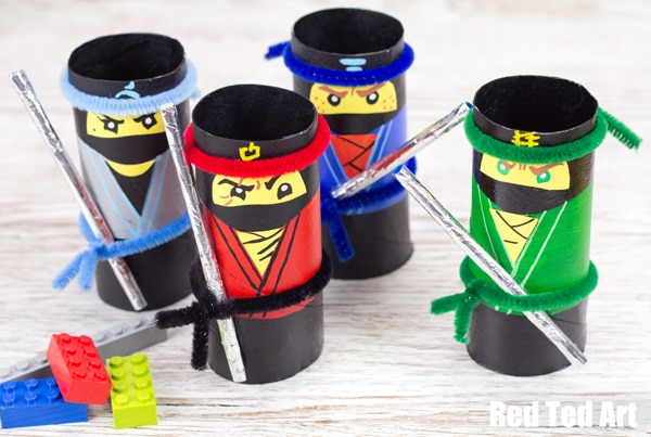 The LEGO NINJAGO Movie Craft - TP Roll Ninjas - Red Ted Art
