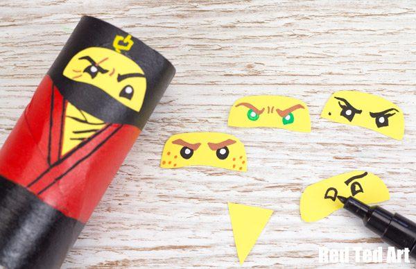 the lego ninjago movie craft tp roll ninjas red ted art s blog