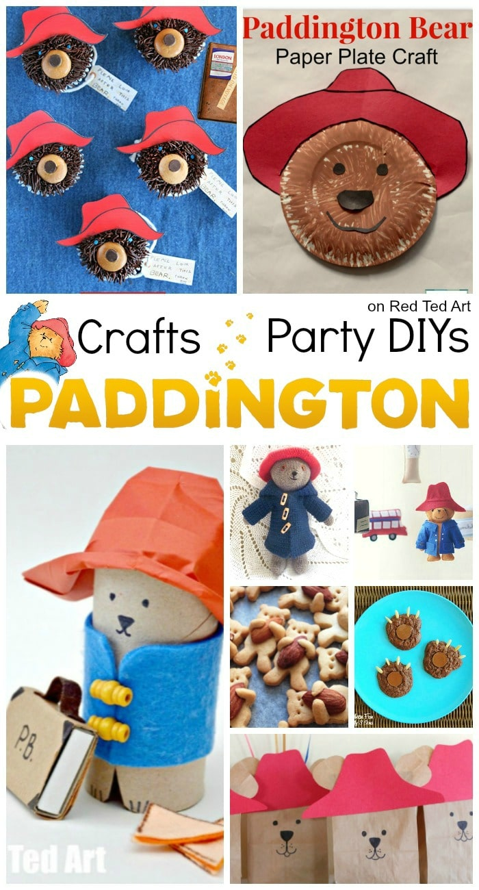 Paddington Bear Party Ideas & Crafts - calling all Paddington Bear Fans. These are some of the cutest and EASY Paddington Bear Crafts and Ideas. Perfect for the best Paddington Bear Party or for a lovely Paddington Craft-ternoon. More info on Red Ted Art! #Paddington #paddingtonbear #paddington2 #partyideas
