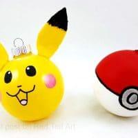 Easy Pokemon Ornaments DIY