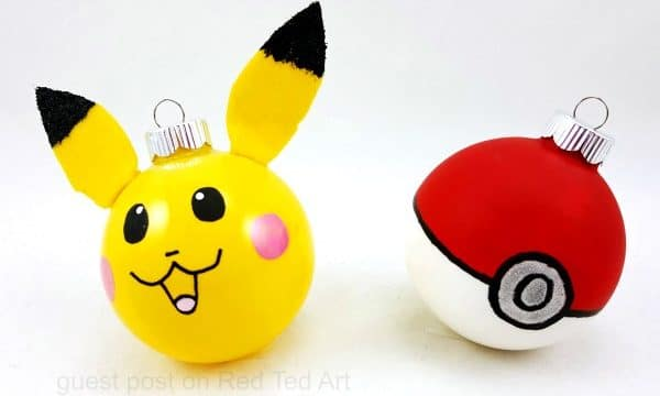 Easy Pokemon Ornaments DIY