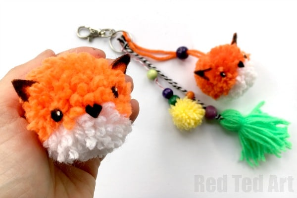 Pom Pom Fox Diy Red Ted Art