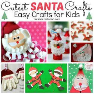 Santa Crafts for Kids #fingerknitting #santa #santahat #santacrafts #kids #christmas