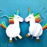 Easy 3D Paper Unicorn Decoration