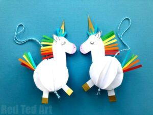 How to make a paper bauble unicorn