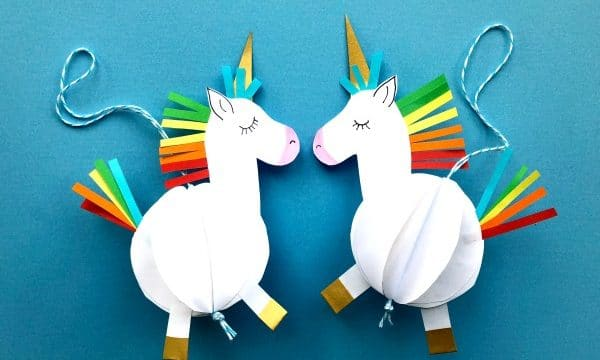 Easy 3D Paper Unicorn Decoration