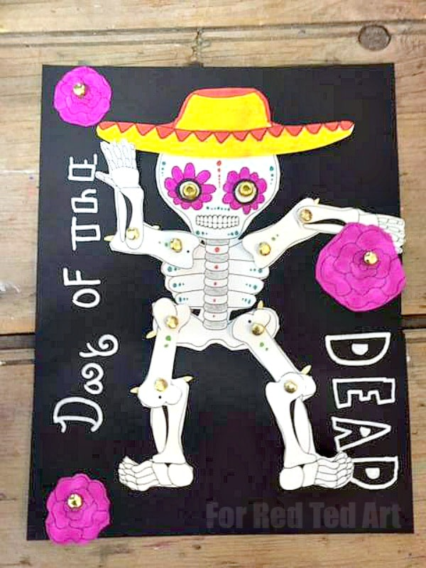 Day of the dead crafts red ted art 39 s blog for Day of the dead arts and crafts