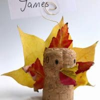 Leaf Turkey Craft – Thanksgiving Place Cards