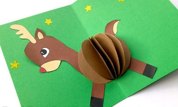 3D Reindeer Card DIY