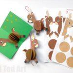 Paper Reindeer Ornament