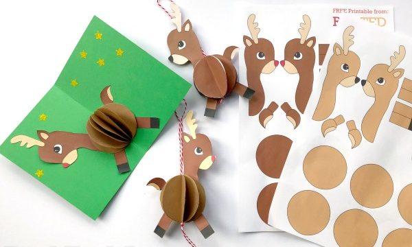 Reindeer pop up