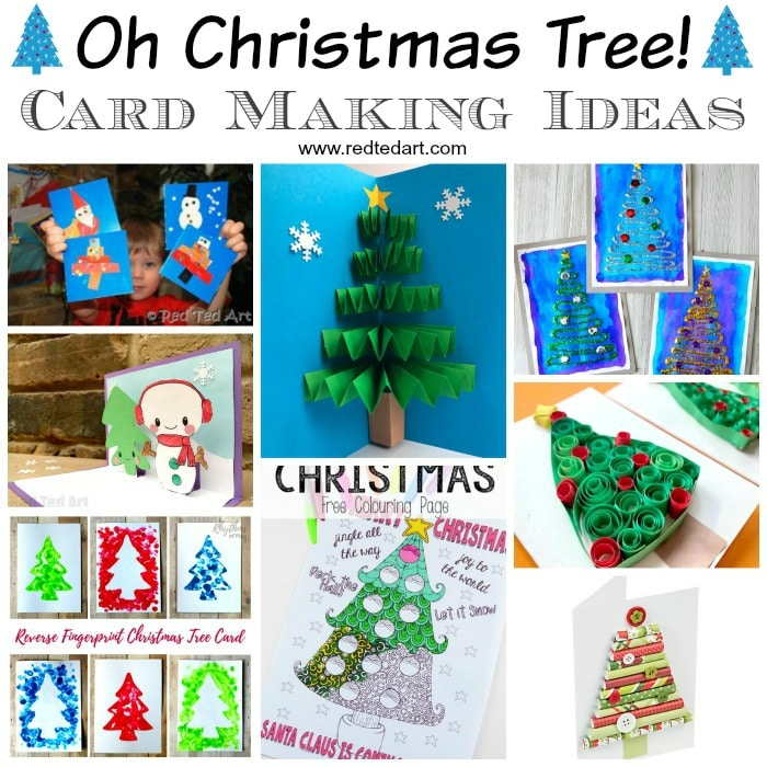 Christmas Tree Art.Easy Christmas Tree Crafts For Kids Red Ted Art